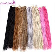 Амир hairfaux locs для Белый синтетический Наращивание волос плетением термостойкие сочетание Цвет 27/613 Ombre вязанная косами 24 нити