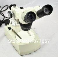 Mejor venta, 20x/40x 80x Microscopio Estéreo con Doble luz LED de Baja Potencia, venden bien En LA UE, EE. UU.