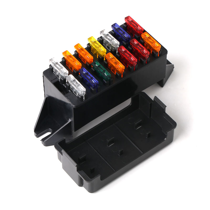 12v 14Way Fuse Box Block Fuse Holder Box Car Vehicle Circuit Automotive Blade Car Fuse Accessory Tool