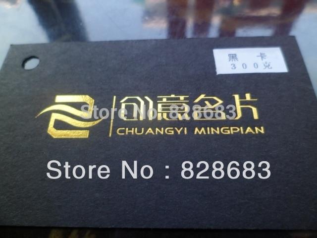 300gr Carte Noire Noir De Visite Papier Avec Golden Couleur Estampage A Chaud Sur Unique Dans Cartes Fournitures Scolaires Et Bureau