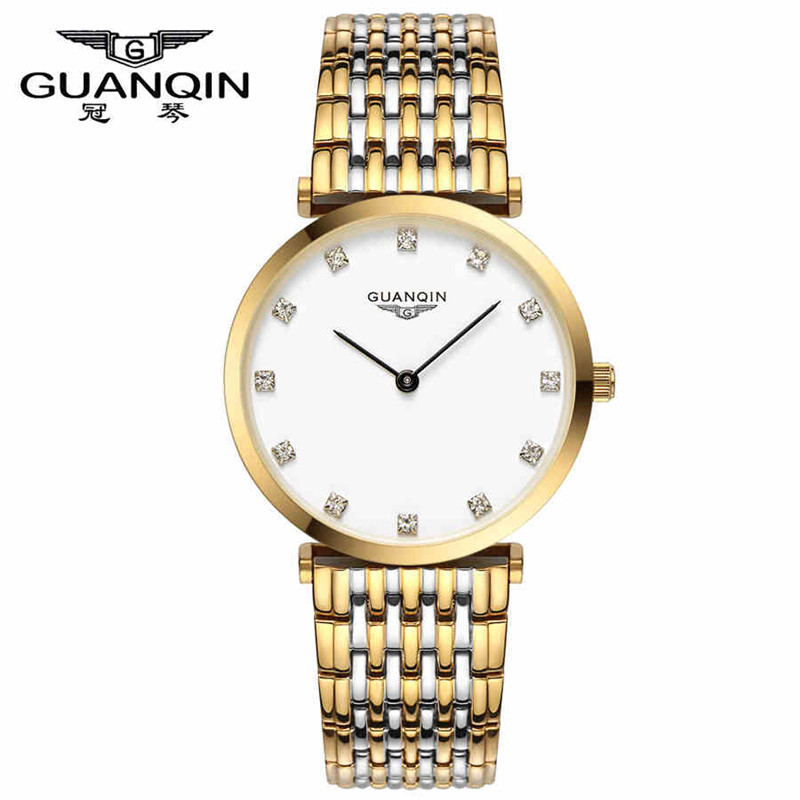 ФОТО GUANQIN Watches Women's Waterproof Fashion Casual Quartz Watch TOP Brand Luxury Popular Classical Wristwatch ladies clock hours