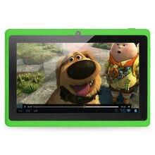 7 pulgadas Práctico y barato Allwinner A33 Quad Core 1 GB 16 GB Android 4.4 Kids Tablet PC HD de la Pantalla 1024*600 de Doble Cámara de pc tablet