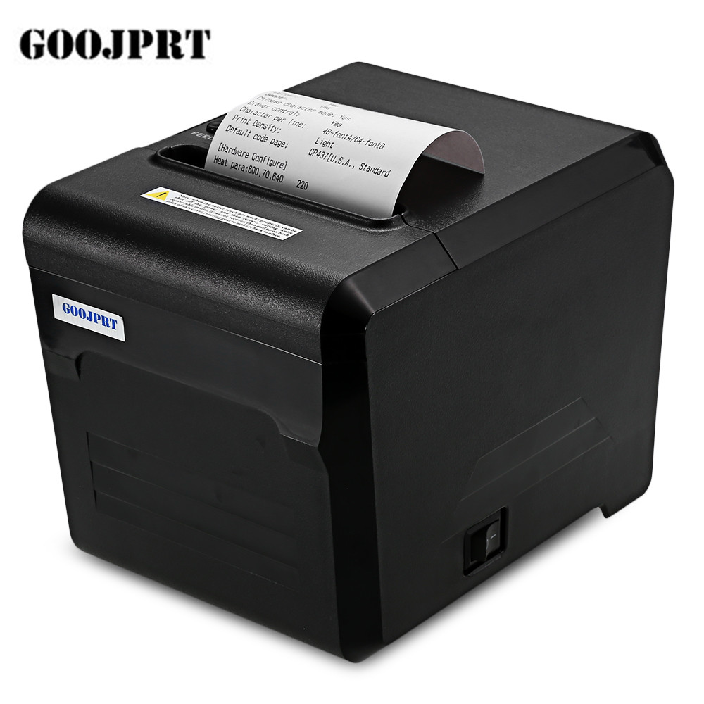 цена на GOOJPRT JP80A Bluetooth Thermal Printer 80mm with USB Serial Port for High-quality Android iOS Black Thermal Printer
