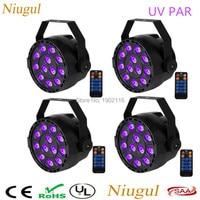 4pcs Lot UV Light 12X3W LED Par Can With Remote Control Led 36w Par Light Holiday