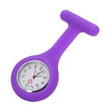 Высококачественные карманные часы для медсестры, силиконовые часы для медсестры, брошь, туника, часы, Reloj de regalo