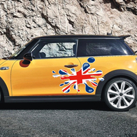 Union Jack Car Fender Door Side Skirt Decals Waist Line Stickers DIY Styling For Mini Cooper R50 R53 R56 R55 F56 F55 R60 Decor