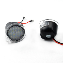 White LED Side Car Mirror Puddle Light Lamp - Direct Replace - for Ford Explorer Mondeo Edge Taurus F-150 Pack of 2