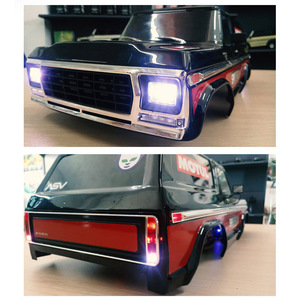 Image 3 - GKRC New Product  LED Light System Front & Rear Lamp Group for 1/10 RC Car Traxxas TRX4 Bronco Front and Back Headlights