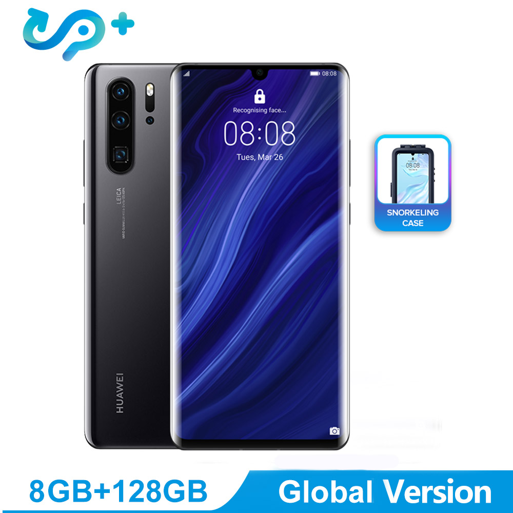 Global Versão Huawei P30 Pro Telefone Móvel 6.47 polegada OLED Suporte Smartphone NFC FHD + 2340*1080 pixels Tela OTG GPS Android 9