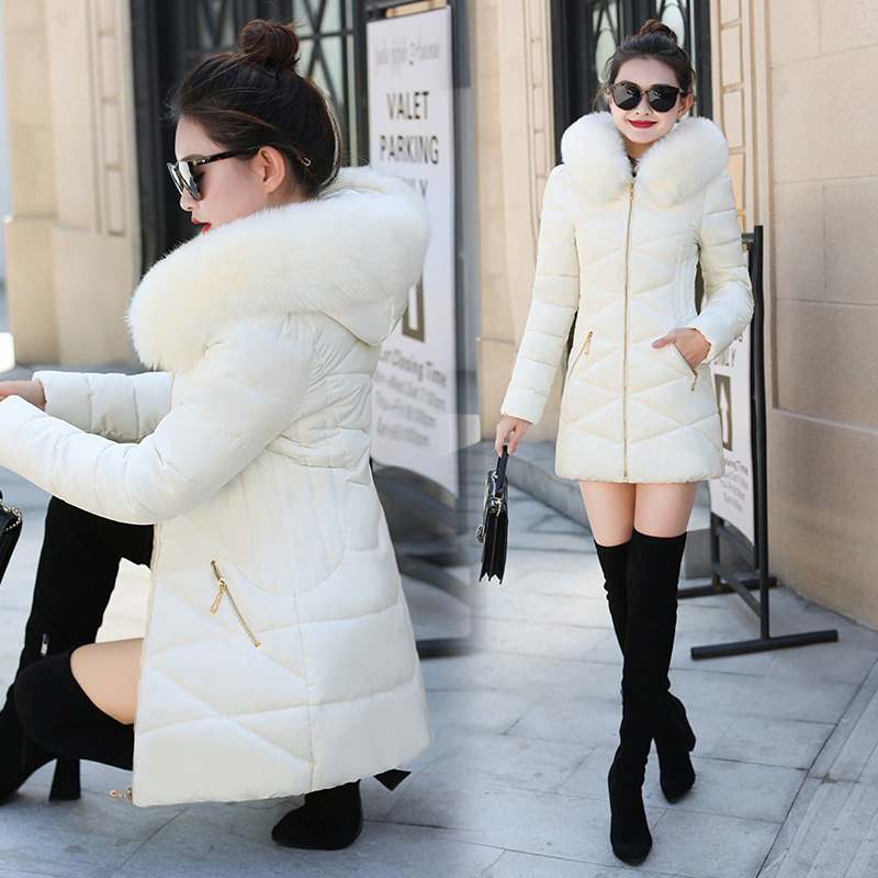 New Winter Jacket Women Faux Fur Hooded   Parka   Coats Female Long Sleeve Thick Warm Snow Wear Jacket Coat Outwear