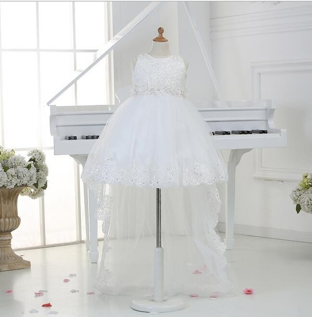 Toddler Girl White Baptism Dress Christmas Costumes Baby Girls Princess Dresses 1 Year Birthday Gift Kid
