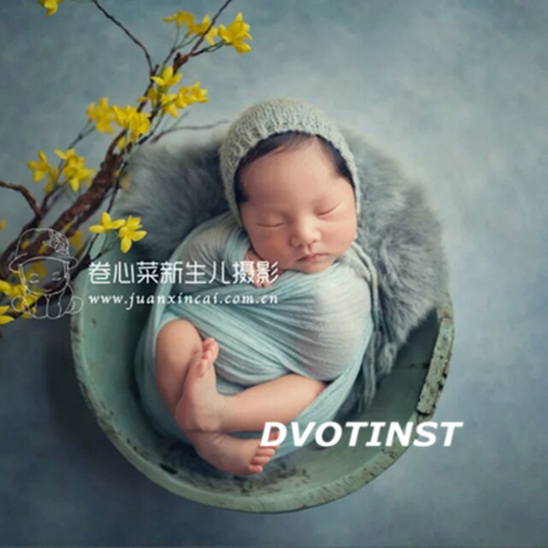 Dvotinst Newborn Baby Photography Props Posing Basket Plate Fotografia Accessories Infant Studio Shooting Photo Props 6 Colors dvotinst newborn photography props baby soft wool background blanket mat basket filler fotografia accessories studio photo props