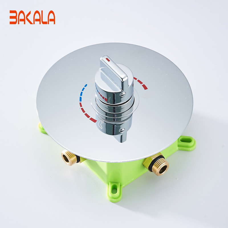 BAKALA Luxury 2 Ways Round Mixer Tap Chrome Brass Shower Valve Panel In Wall Bathroom Faucet Tap BR-9917BAKALA Luxury 2 Ways Round Mixer Tap Chrome Brass Shower Valve Panel In Wall Bathroom Faucet Tap BR-9917
