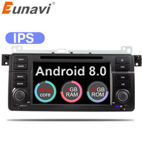 Eunavi Octa Core 1 Din 7'' Android 8.0 Car DVD player car radio stereo for BMW E46 M3 with GPS Navigation Bluetooth WIFI USB SWC