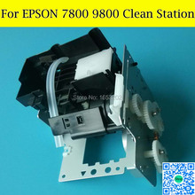 1 Set Compatible Cap Capping Station Pump Assembly For Epson 7800 9800 Printer Head Printhead brand print head compatible for epson me700fw 85nd t40w 80w tx550 tx600 tx610fw tx620fw me900wd me960fwd nx515 printhead