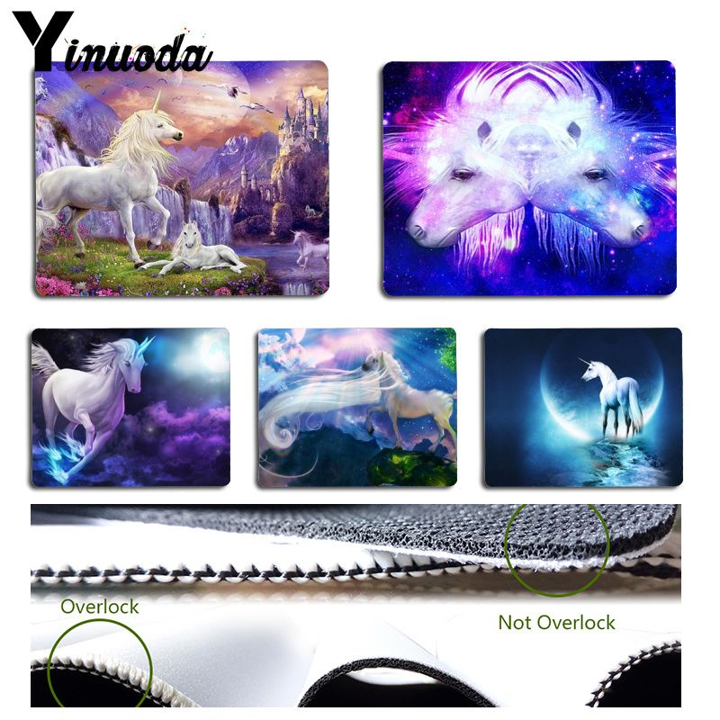 Yinuoda Boy Gift Pad Cool Fashion unicorn Horse Gamer Speed Mice Retail Small Rubber Mousepad Size for 18x22cm 25x29cm