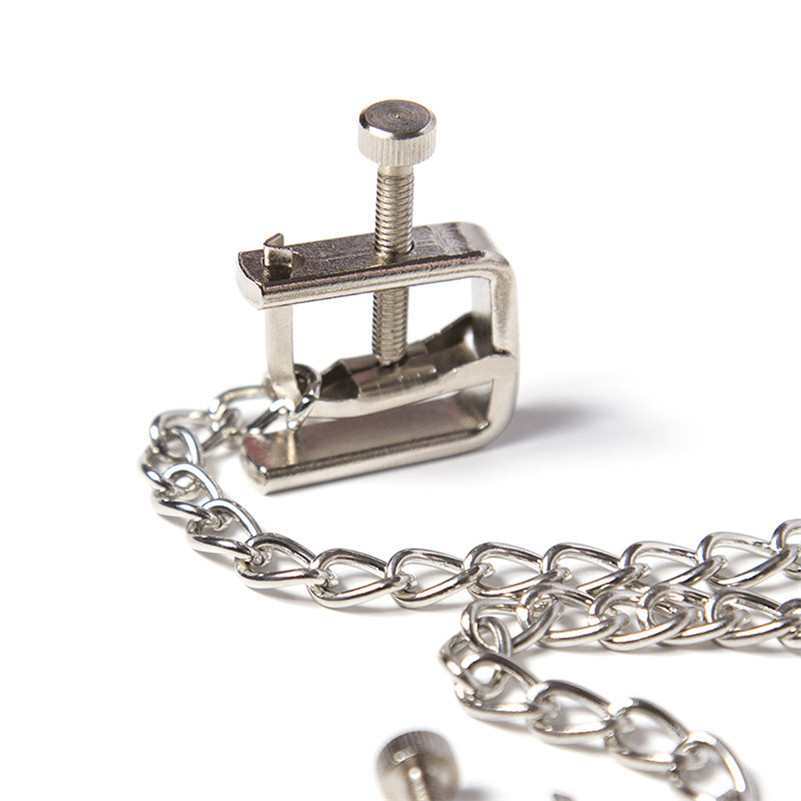 Adjustable Nipple Clamps Chain Clips Sex Toy Bdsm Erotic Breast bust Stimulate For Women Couple Adult Game fetish Morease