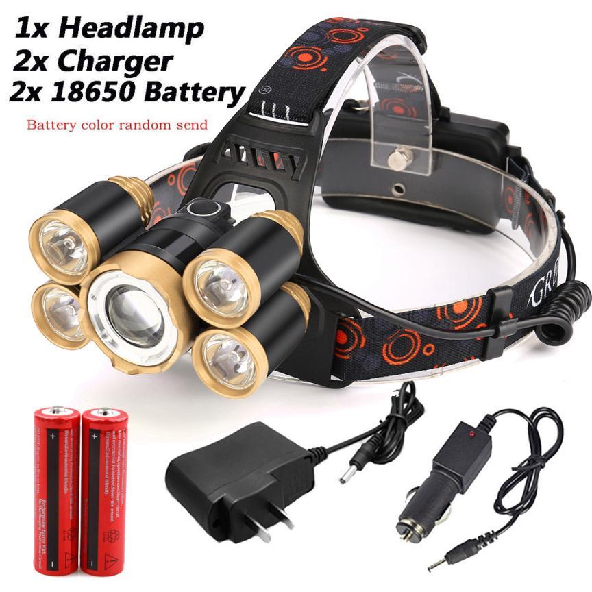 35000LM Zoom 5x XM-L T6 LED USB Bicycle Headlamp Headlight USB Charging Cable Car charger Flashlight Head Light Lamp 18650 P40 950lm 3 mode white bicycle headlamp w cree xm l t6 black silver 2 x 18650