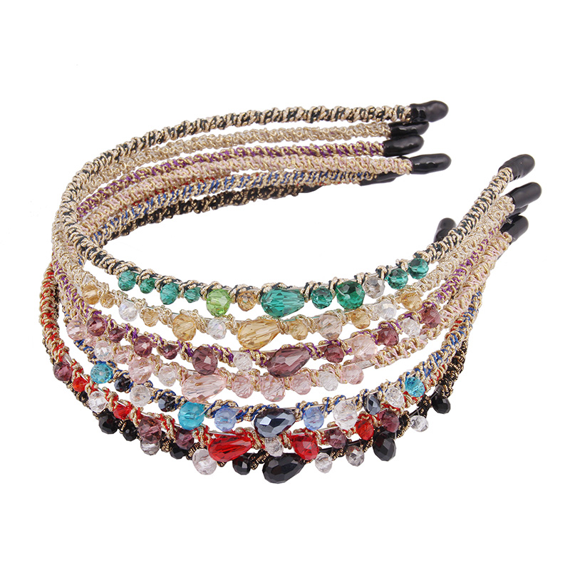 Candygirl 7 Colors Crystal Rhinestone Headband Women Girls Irregular Faux Crystal Hair Band Bridal Hair Accessory Gift Mother in Women 39 s Hair Accessories from Apparel Accessories