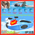 2016 NEW VERSION Waterproof Bluetooth Headphones for Swimming IPX8 Sports MP3 Player Neckband FM Radio Surfing Running Earphones