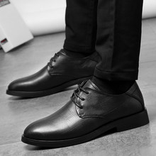 MECOLEN men business dress shoes brand quality genuine leather derby shoes round toe lace-up shoes men formal social male shoes(China)