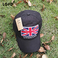 LGFD16C418    Men unisex British  flag   snapback  Union Jack embroidered  cotton baseball cap