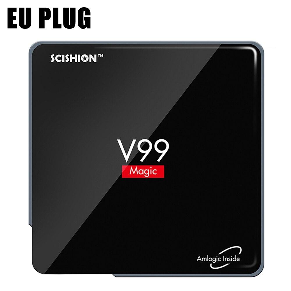 SCISHION V99 Android 6.0 Smart TV Box 2GB RAM 16GB ROM Amlogic S912 Octa Core Dual Band WiFi Bluetooth 4.0 3D Media Player 2gb ram 16gb rom android 6 0 smart tv box s912 octa core dual wifi uhd 4k zoomtak u plus