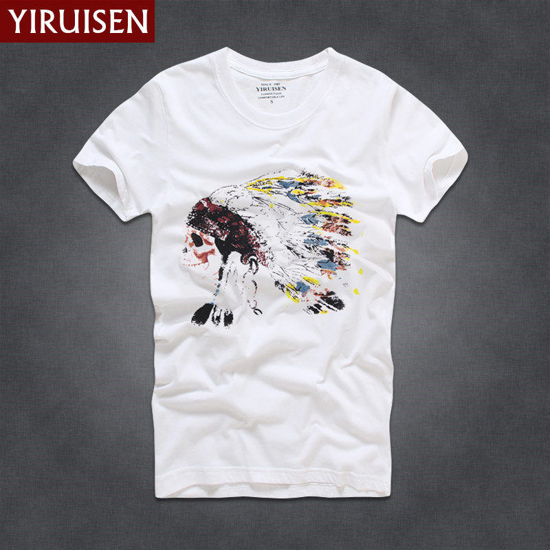 Мужские футболки, модные, YiRuiSen, брендовая мужская футболка с коротким рукавом, мужская повседневная футболка из хлопка, топы, Camisetas Hombre Camisa - Цвет: 6843
