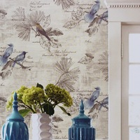 Chinese Flower Bird Wallpaper Nature Waterproof Wall Background for Living Room PVC Vinyl Wall Paper Roll Home Improvement 10M