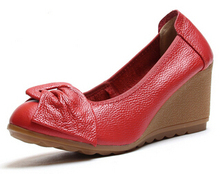 2015 Summer Women's Sandals Genuine Leather Plataforma Sandalias Gladiator Flip Flops Summer Women's Shoes pumps high heels