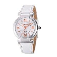 Fashion Quartz Watch Women Girl Roman Numerals Leather Band Wrist Bracelet Watches
