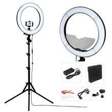 Студия Затемнения 18 «55 Вт 5500 К LED Зеркало Камеры Видео Кольцо Света Комплект с 2 М Стенд, цвет Фильтром и Носит Мешок для Макияжа Фото