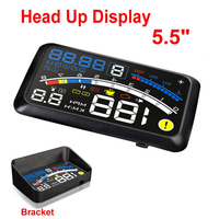 ActiSafety HUD Head up Car Projector Car Styling Reader Speed Self adaptive Car Fuel etc Parameter Display Alarm System