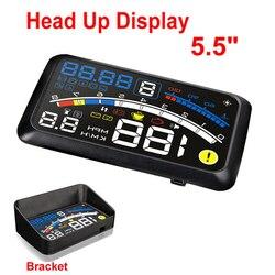 ActiSafety HUD głowa do góry projektor samochodowy Car Styling czytnik prędkość własny adaptacyjne paliwo samochodowe itp parametr alarm z wyświetlaczem System|actisafety hud|hud speedup display -