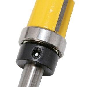 Image 5 - 8 мм хвостовик шаблон отделка шарнир отрезание фрезы прямой конец мельница триммер для очистки промывки тенон фрезы для деревообработки