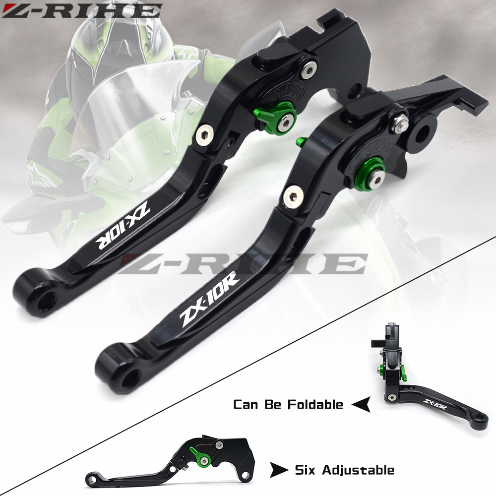 For kawasaki ZX10R 2006-2015 2007 2008 2009 2010 2011 2012 2013 2014 black Adjustable Motorcycle CNC Brake Clutch Levers cnc motorcycle adjustable billet foot pegs pedals rest for kawasaki zx10r zx 10r zx 10r 2006 2007 2008 2009 2010