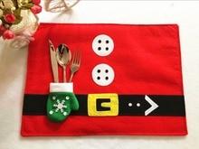 2016 новый стиль Рождество столовых с перчатки Модные бытовой Елочные украшения