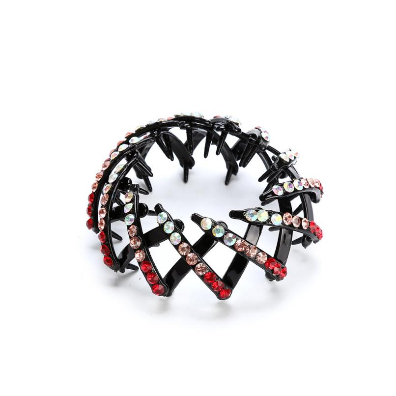 1 Pcs Women Girls Punk Gothic Fake Plastic Hair Cuff Ponytail Clip Tie Holder Hair Band Delicate drop shiping May 7