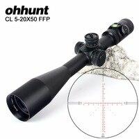 Ohhunt CL 5 20X50 FFP первый Фокальной плоскости охотничий оптический прицел Сторона параллакса Стекло гравированный сетка замок сброс область с пу