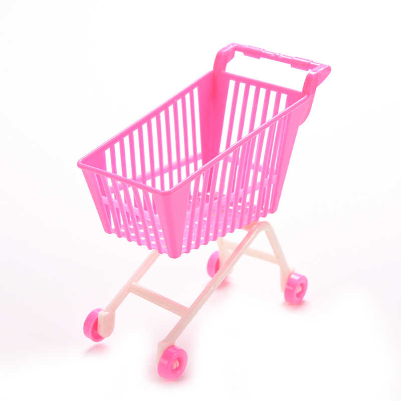 TOYZHIJIA 1 X ของเล่นคลาสสิกรถเข็นสำหรับเด็กวันเกิดของขวัญช้อปปิ้งสำหรับตุ๊กตาอุปกรณ์เสริม
