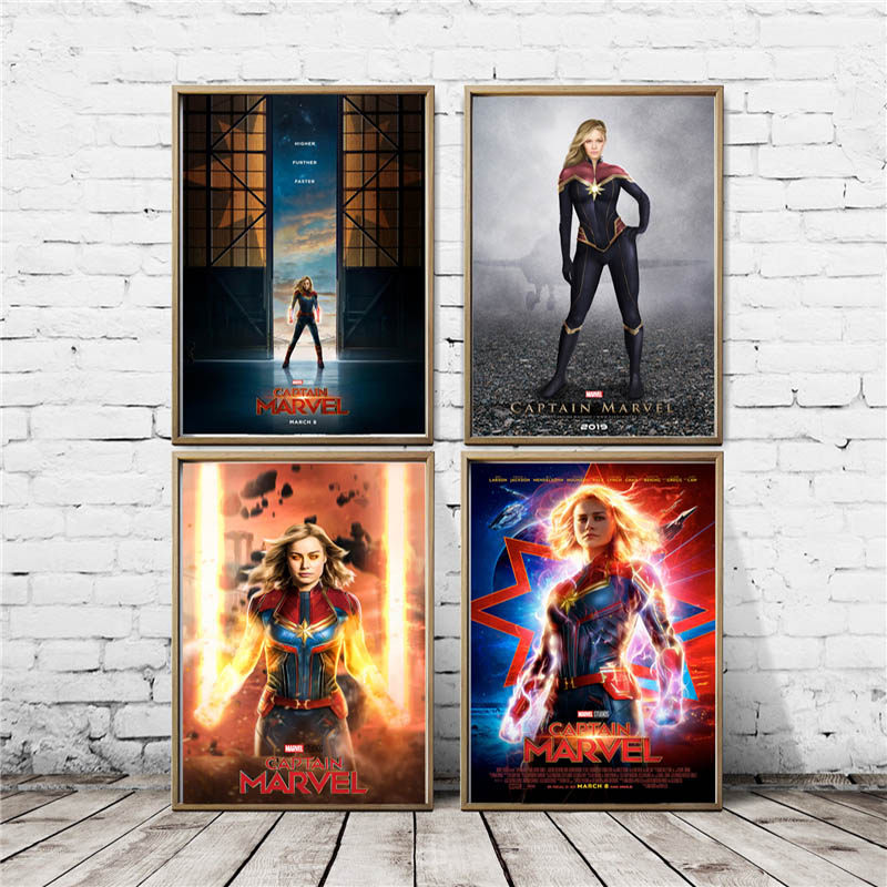 Brie Larson Captain Marvel Wallpaper Wall Art Canvas Posters Prints  Painting Wall Pictures For Office Bedroom Home Decor Artwork