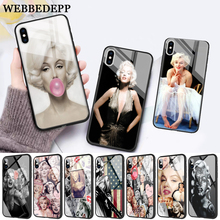WEBBEDEPP Marilyn Monroe Glass Phone Case for Apple iPhone 11 Pro X XS Max 6 6S 7 8 Plus 5 5S SE brand new wired 7 inch color video door phone intercom system 2 monitor rfid keypad camera 250mm strike lock free shipping