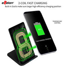 effelon Fast Wireless Charger with wind Fan Quick Wireless Charging Stand For iphone X 8 Plus For Samsung Galaxy Note 8 S8 S8+