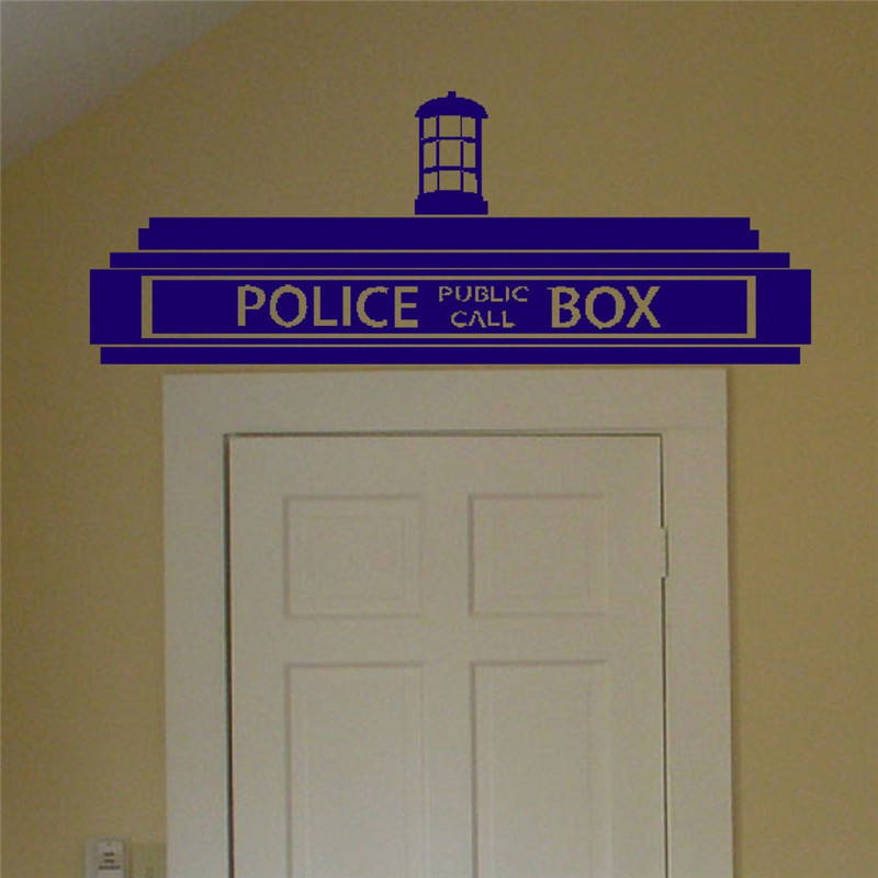 Creative Doctor Who Tardis Police Box Wall Sticker Decor Design Kids Transfer Vinyl