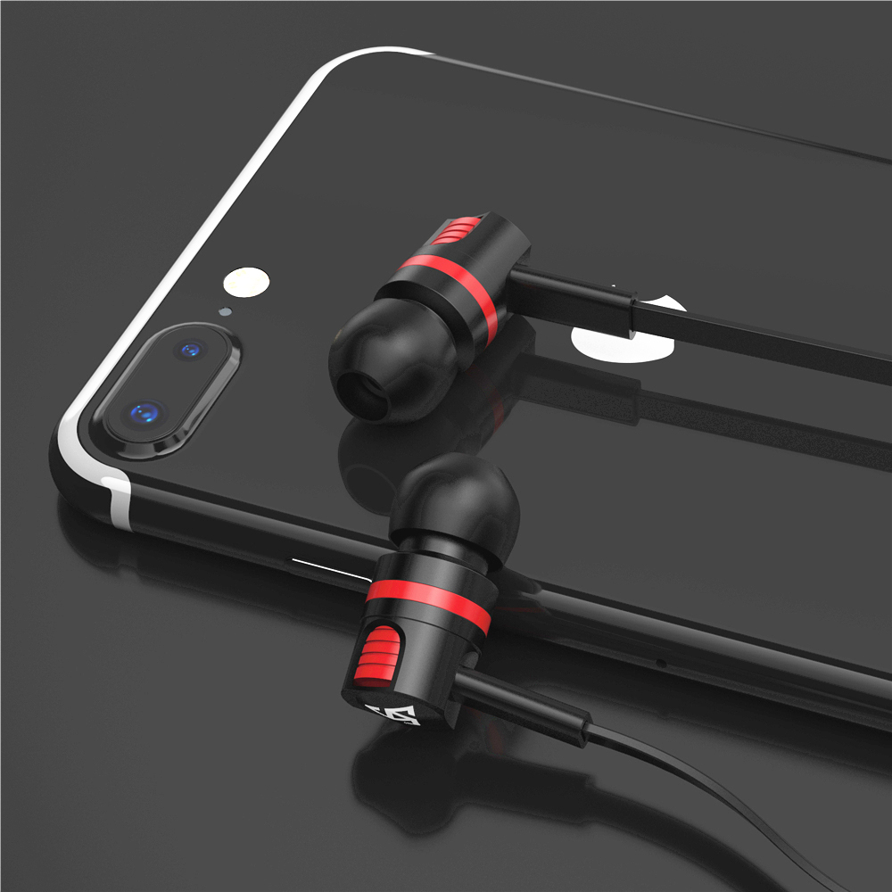 Wired 3.5 mm Noise Cancelling Earphone Handsfree In-Ear Earbuds Sport Running Gaming Headset With Mic For Phone Compputer Tablet(China)