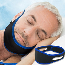 1PC Unisex Male Female Snore-ceasing Equipment Velcro Adhesive Face Jaw Brace Elastic Band Anti Snore Stopper Sleeping Device