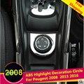 ABS Chrome Больше Трафика, Чтобы Адаптировать Режим Набор Декоративные круг Защиты Автомобиля Наклейки Для Peugeot 2008 2014 2015 2016 автомобиль