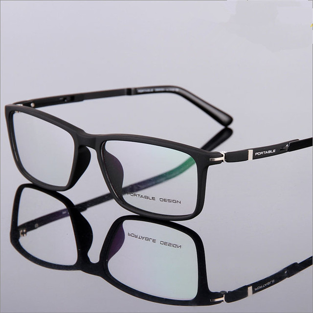 7430f489ad Designer glasses Fashion TR90 glasses frame ultralight myopia men and women  retro eye box frames 9164