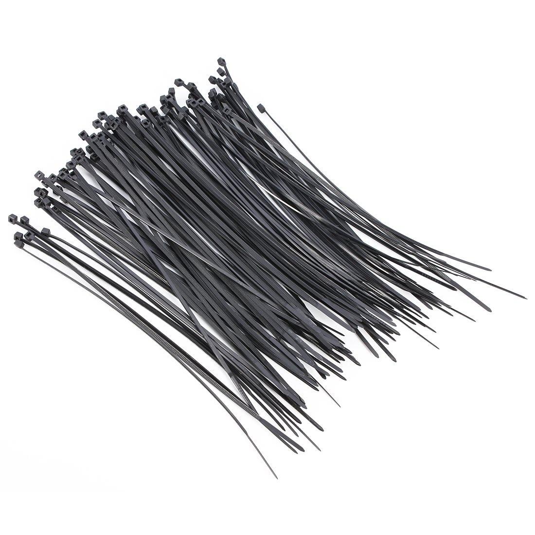 OUTERDO 100 stücke Nylon Kunststoff Zip Trim Wrap Kabel ...