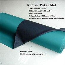 1 метр резиновый коврик шириной 130 см длина может быть настроен в Покер игры колот Казино макет